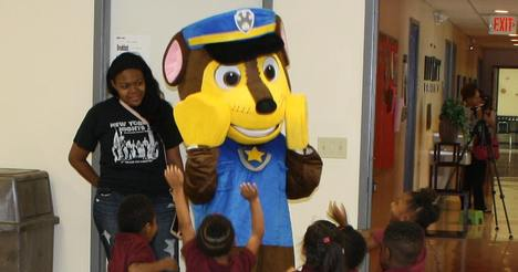Chase from Paw-Patrol Visits Little-Arrows