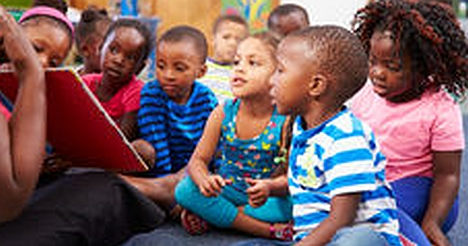 Childcare Options in Florissant, preschool children reading a book